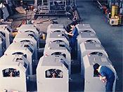 バレル研磨機の量産風景